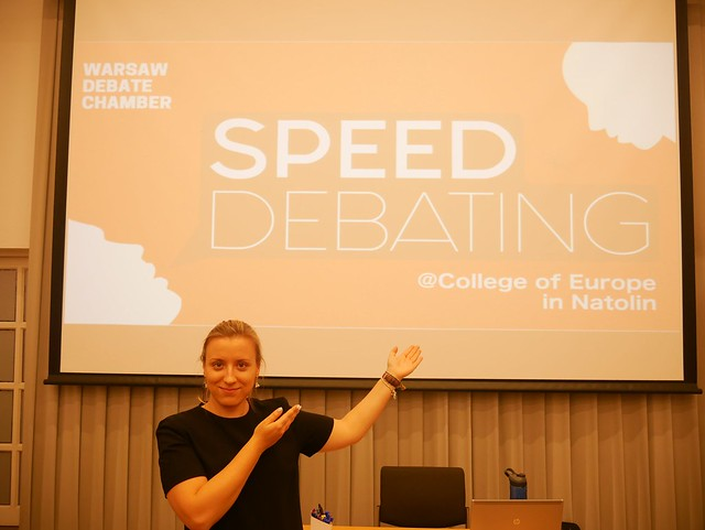 Speed debating at Natolin