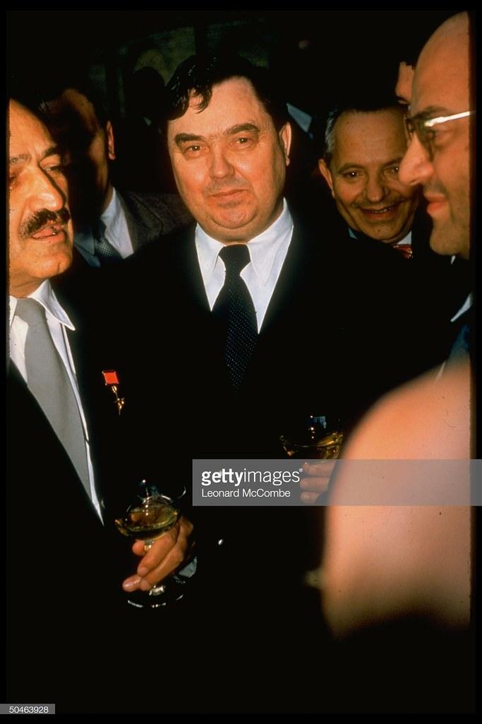 Георгий Маленков с коктейлем