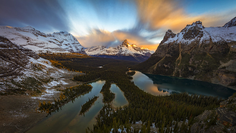 Opabin Sunrise at Lake Ohara