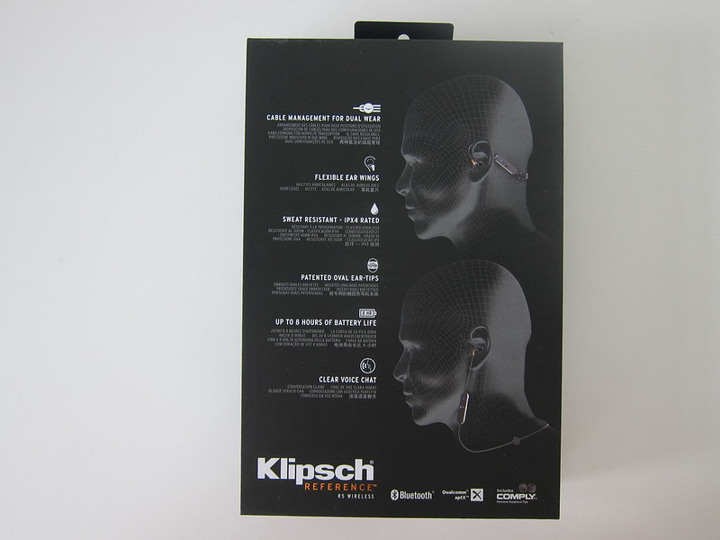 Klipsch R5 Wireless Earphones - Box Back