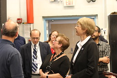 Rep. Zawistowski tours the Expanded Manufacturing Technology Programs area at Asnuntuck