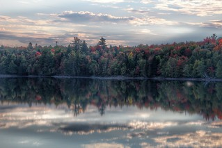 Lake Placid  ~ New York ~ Early Sunset  ~ Autumn Leaves