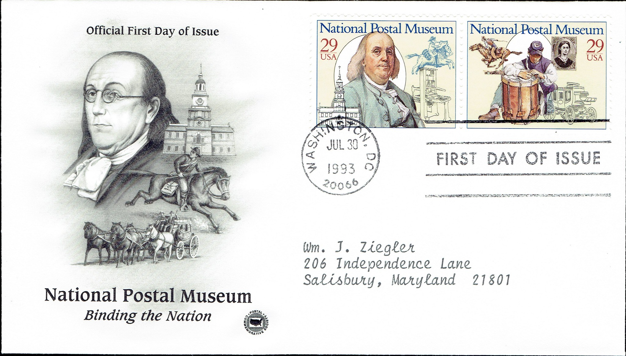 United States - Scott #2779-2780 (1993) first day cover from Postal Commemorative Society