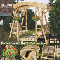 Garden Double Bench CHEZ MOI