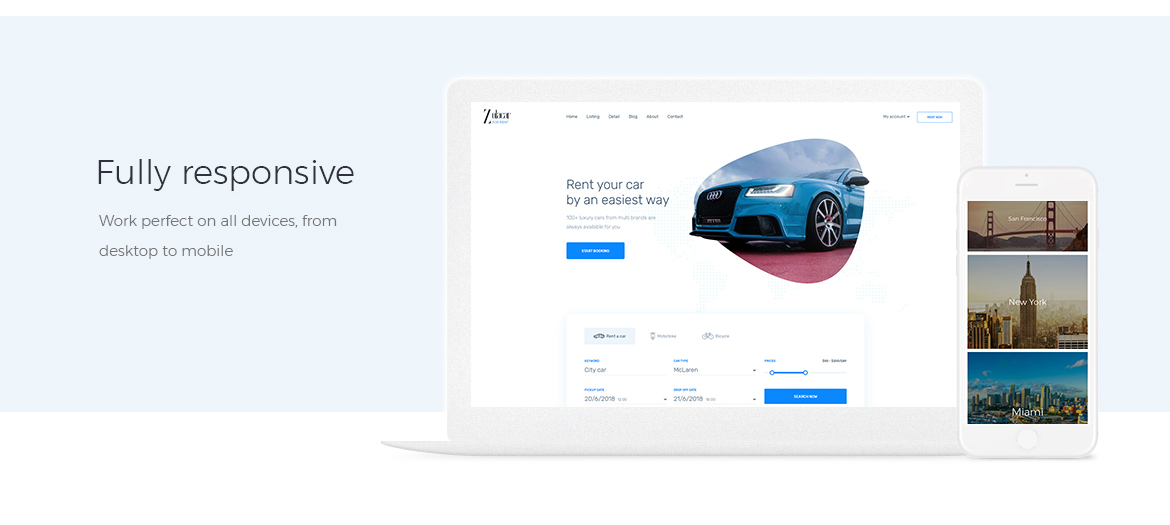 Leo Rent Car Responsive Prestashop 1.7 theme-free support
