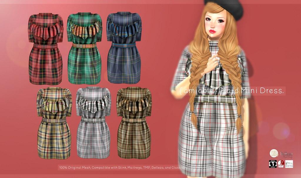 {amiable}Plaid Mini Dress@N21 21th Oct(50%OFF SALE). - TeleportHub.com Live!