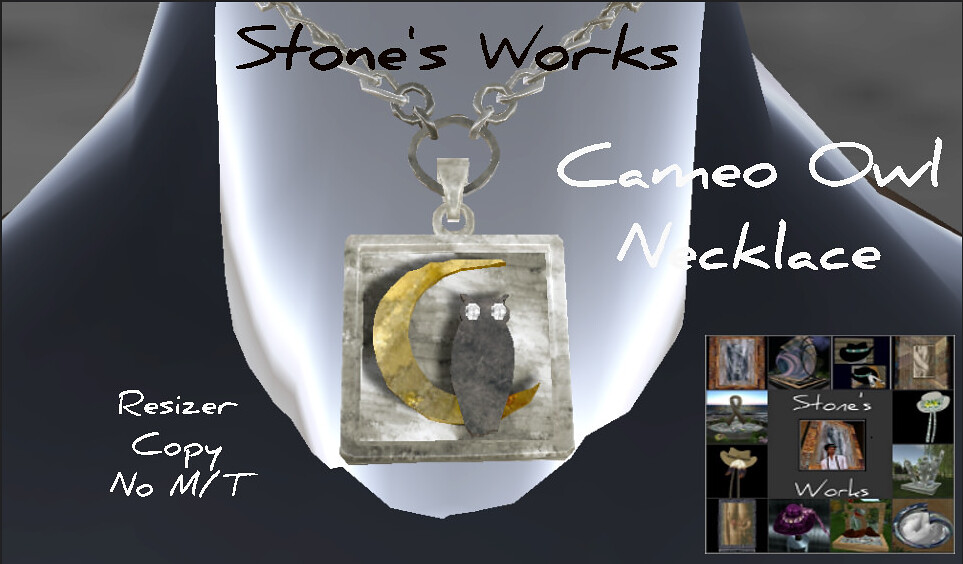 Cameo Owl Necklace in Silver - TeleportHub.com Live!