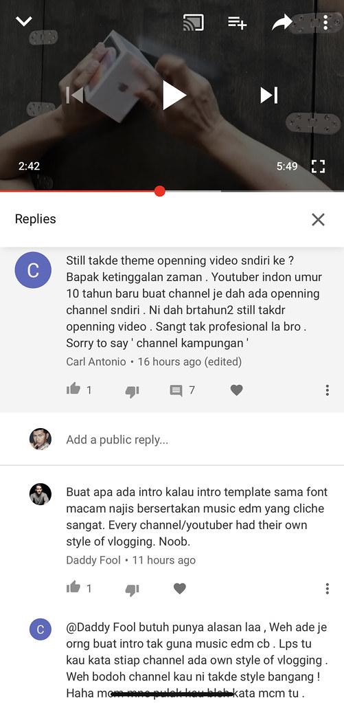 youtube komen