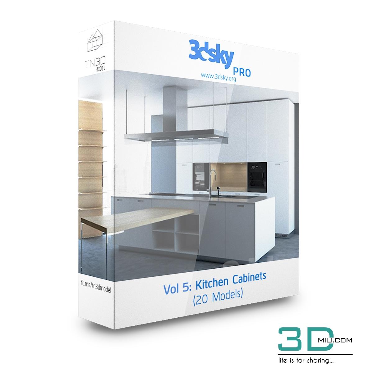 3dsky Pro Vol 5: Kitchen Cabinets - 3D Mili - Download 3D