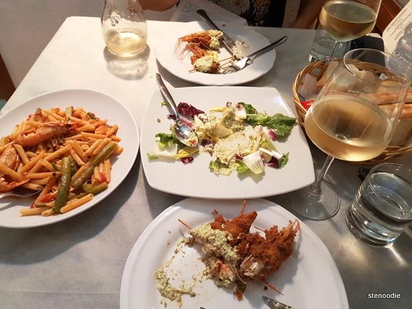 Ristorante Lo Schiaccianoci dinner
