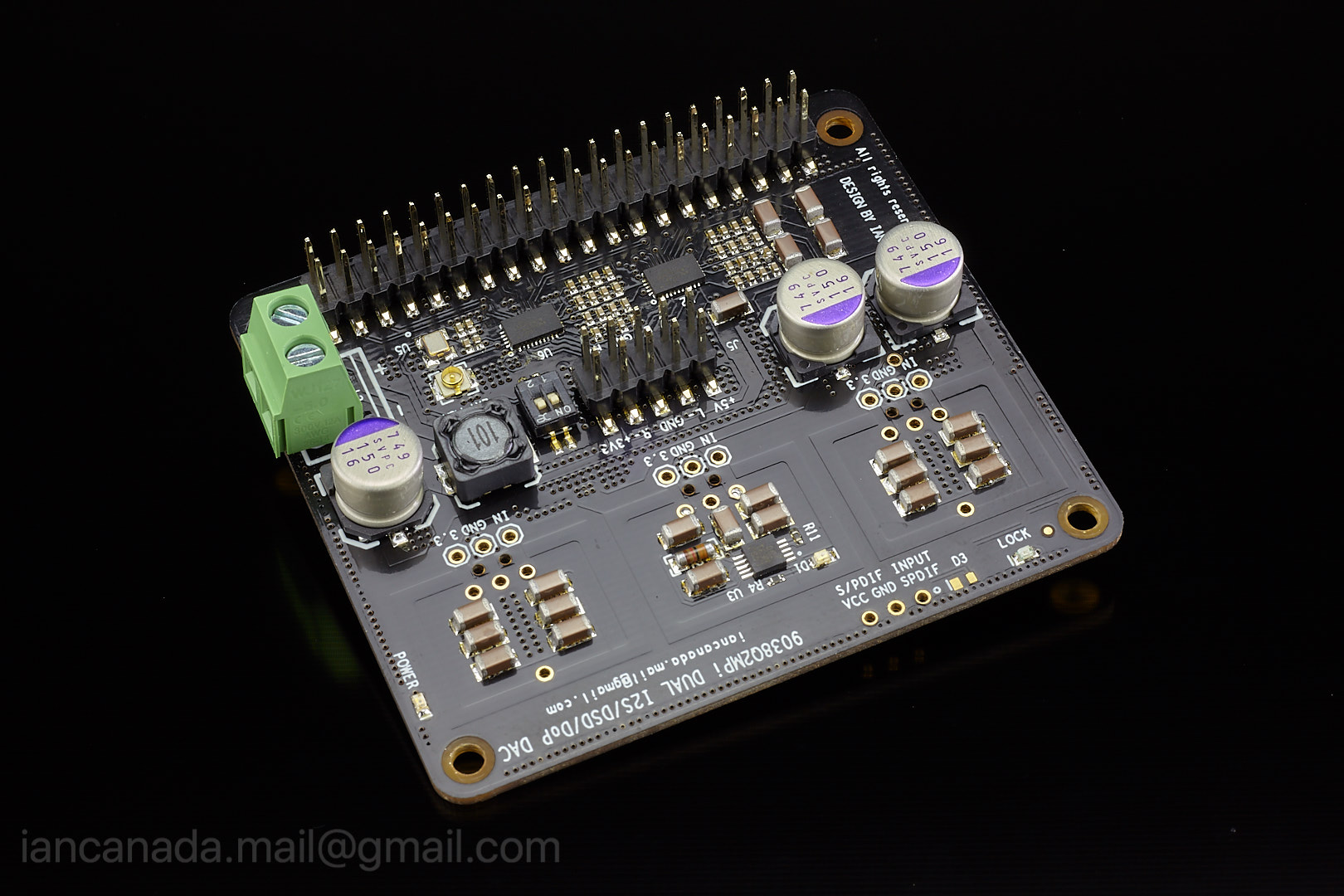 ES9018K2M, ES9028Q2M, 9038Q2M DSD/I2S DAC HATs for Raspberry Pi