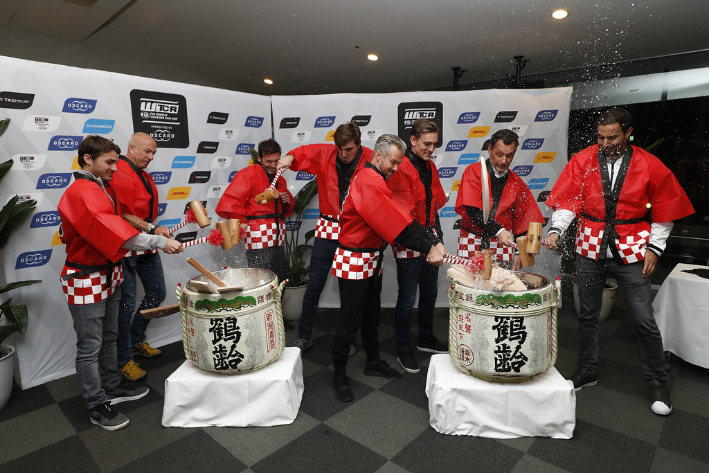 SAKE CEREMONY during the 2018 FIA WTCR World Touring Car cup of Japan, at Suzuka from october 26 to 28 - Photo Clement Marin / DPPI
