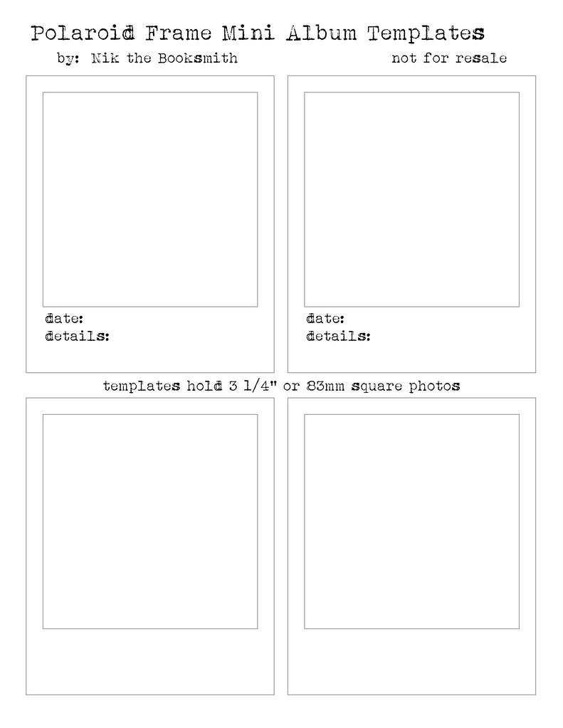 polaroid frame templates
