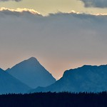 2. September 2018 - 7:05 - Mountain Sunset in Waterton NP from my trip last month.