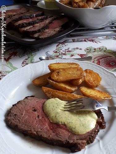 Roastbeef mit Ofenkartoffeln und Safran-Dip (1)