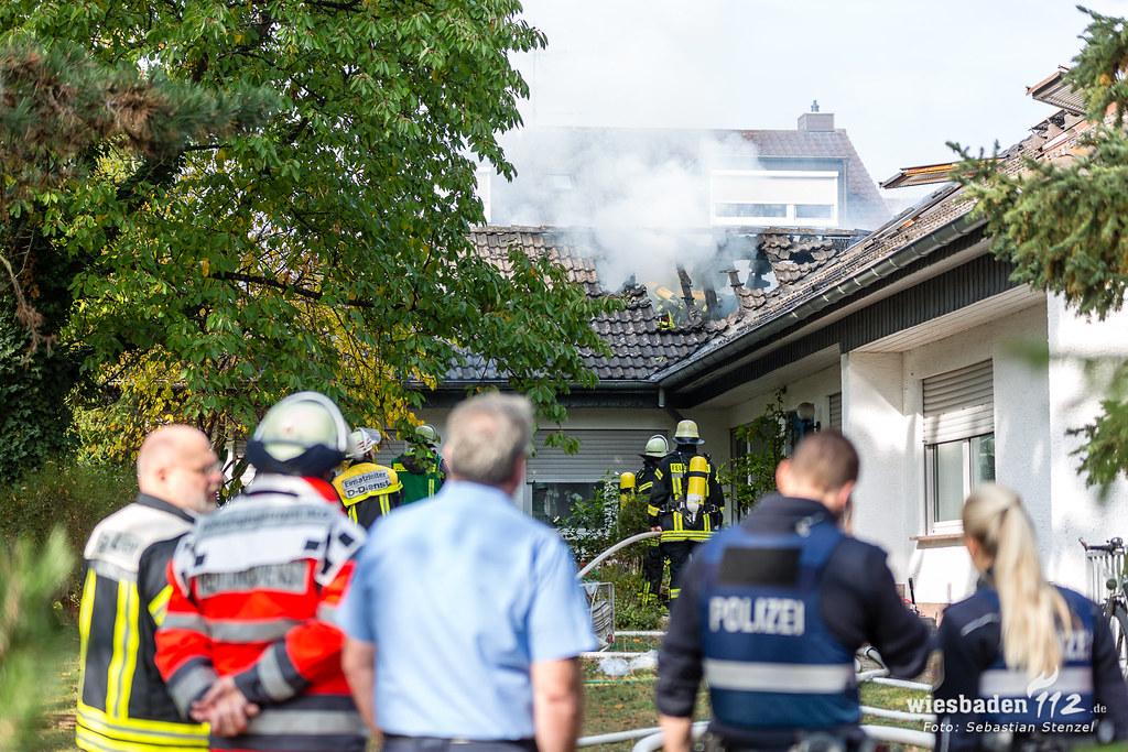 Dachstuhlbrand Mainz-Hartenberg-Münchfeld 09.10.18