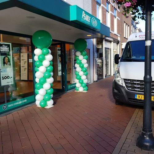 Ballonpilaar Breed Rond Pearl Opticien Coevorden