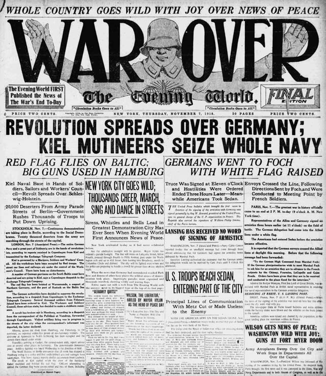 new york world 1918-11-07 front page