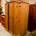 E265 tall waxed pine 3 door wardrobe