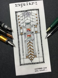 Inktober 2018 - Day 16.  Angular  (Frank LLoyd Wright)