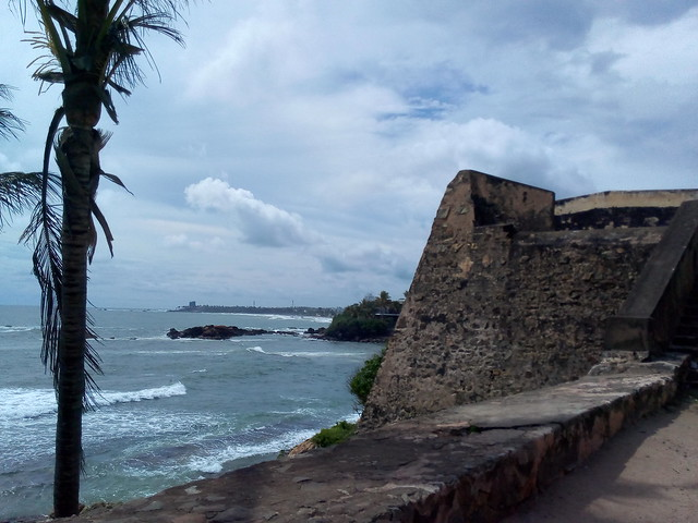 Galle Fort wall in Sri Lanka.