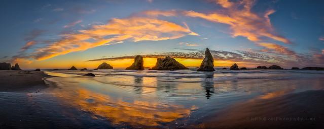 Bandon Sunset Panorama