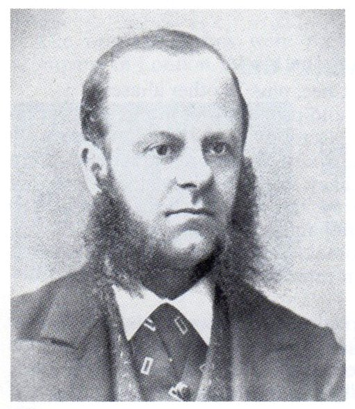Picture of the stamp dealer Edward Stanley Gibbons in his thirties or forties from