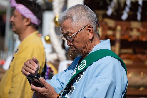 a man in festival
