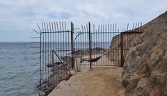 Collioure, plage de l' Ouille, l'ancien sentier de la corniche