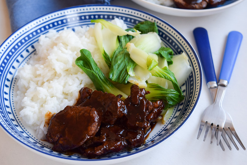 15 Minute Five Spice Pork with Pak Choi and Jasmine Rice