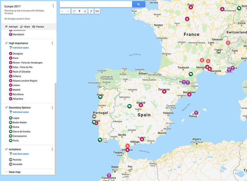 Europe 2017 Planning Map