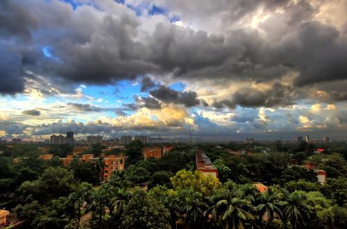 debmalyamukherjee canon550d 1018mm landscape sunset dusk mumbai cloudscape darkclouds