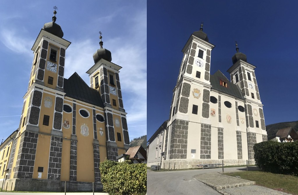 Frauenberg vorher nachher Restaurierung