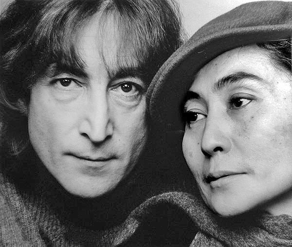 John Lennon and Yoko Ono photographed by Jack Mitchell in 1980, the year John Lennon was murdered.