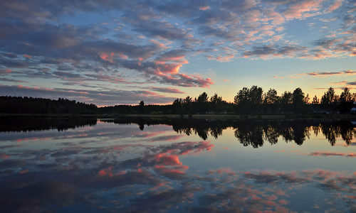 Mirror reflection. Colors of summer. Finland.