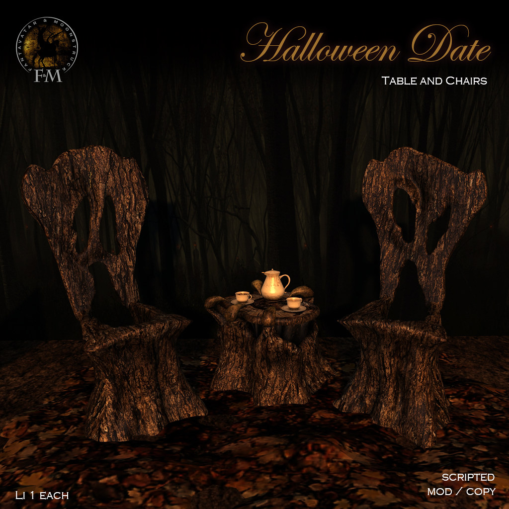 F&M * Halloween Date * Table and Chair - TeleportHub.com Live!
