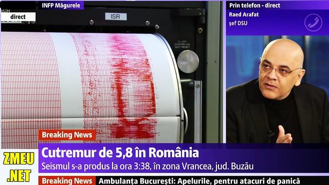 Raed ARAFAT despre CUTREMURUL de 5,8 in Romania 28 octombrie 2018 ora 3:38