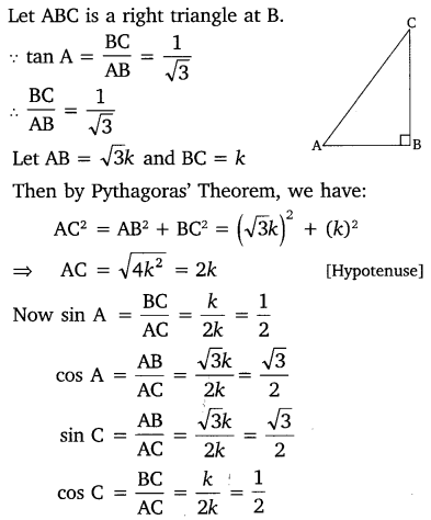 NCERT Solutions for Class 10 Maths Chapter 8 Introduction to Trigonometry 14