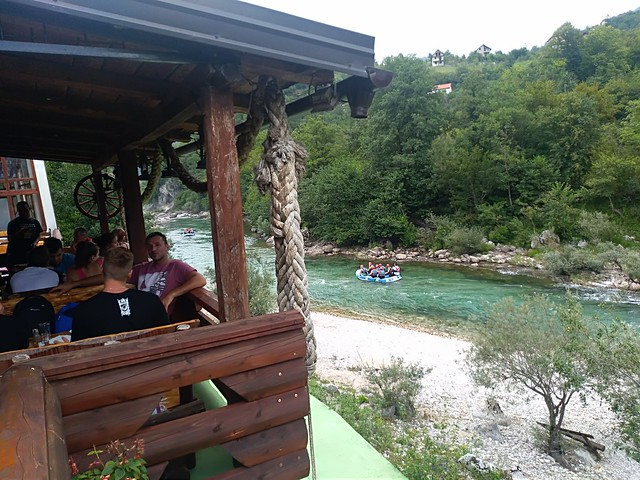 Rafting down on the Neretva river