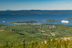 Bar Harbor from above