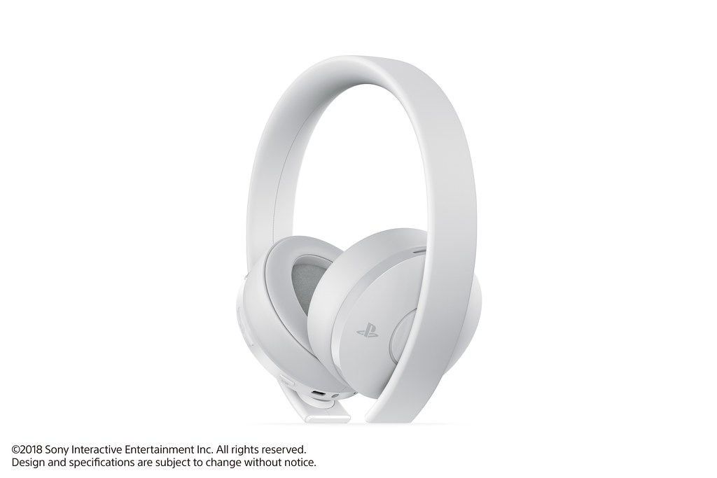 playstation gold wireless headset gets new white version. Black Bedroom Furniture Sets. Home Design Ideas