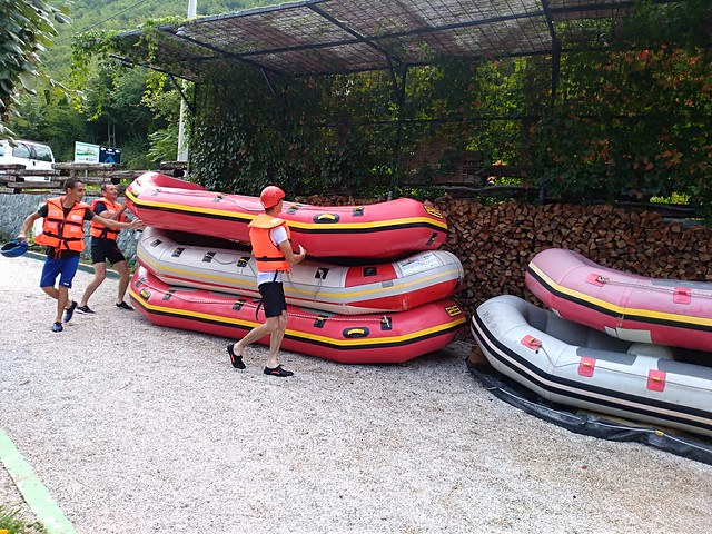 Neretva river rafting down