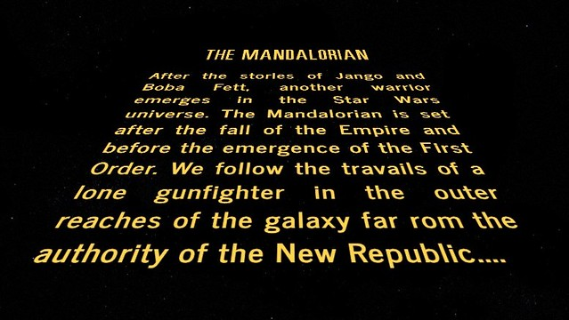 "Live Action Star Wars Series Titled ""The Mandalorian"""