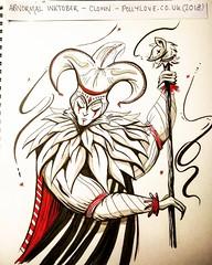 Abnormal Inktober: Clown / Jester. (Farseer Trilogy Fanart)