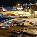 A4O-SA - 2015 build Boeing B787-8, evening scene at Terminal 2 at Manchester