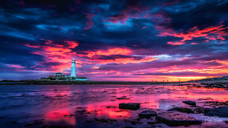 St Mary's Light House Sunrise