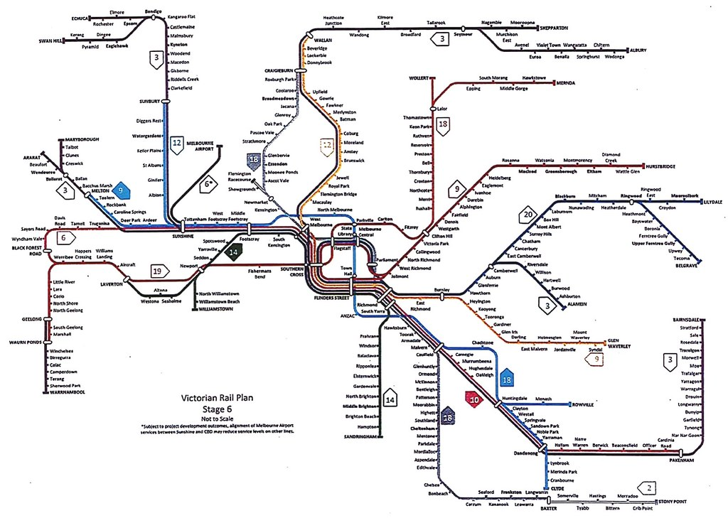 Victorian Rail Plan - leaked version October 2018 - Stage 6