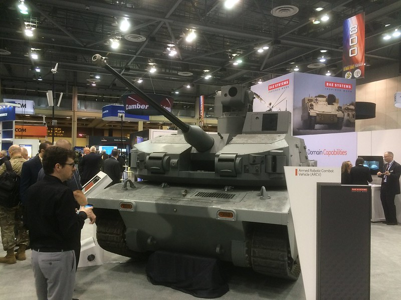 BAE's Armed Robotic Combat Vehicle (ARCV), originally developed for the Future Combat Systems (FCS) program