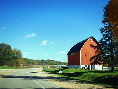 Red Barn on the curve
