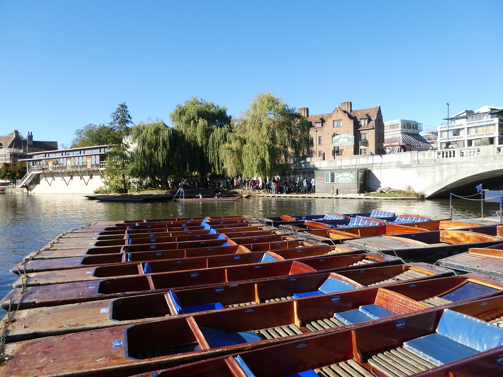 Punting Station by the Silver Street Bridge, Cambridge